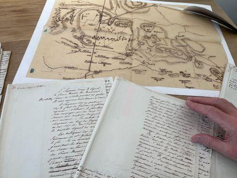 74 Seiten umfasst das Manuskript von Napoleons Gefolgsmann Henri Bertrand