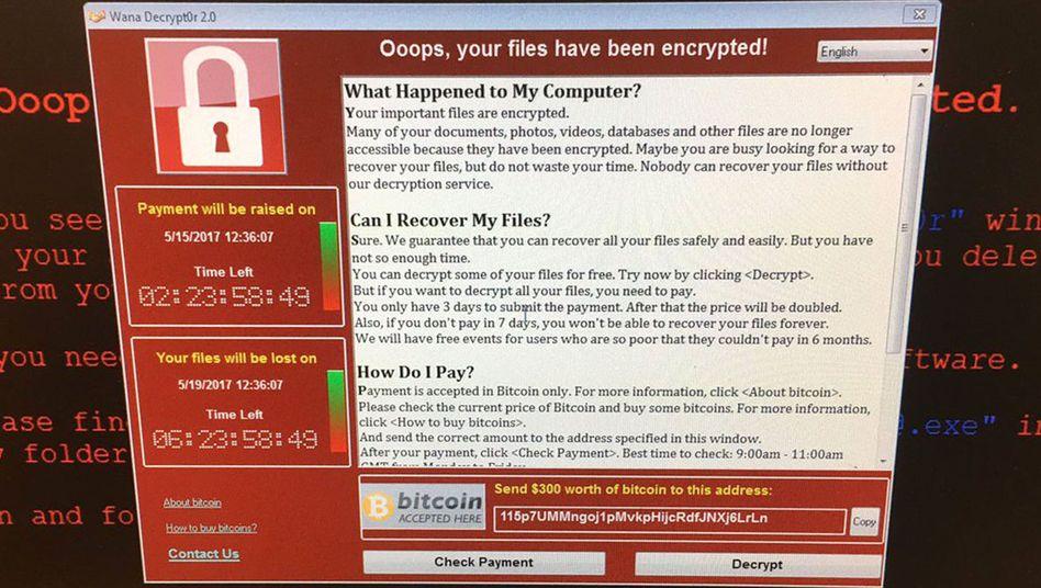 Betroffener Computer einer britischen Klinik