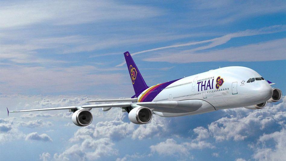 Künftiges Flugzeug von Thai Airways (Illustration): Angebot nur für Frauen