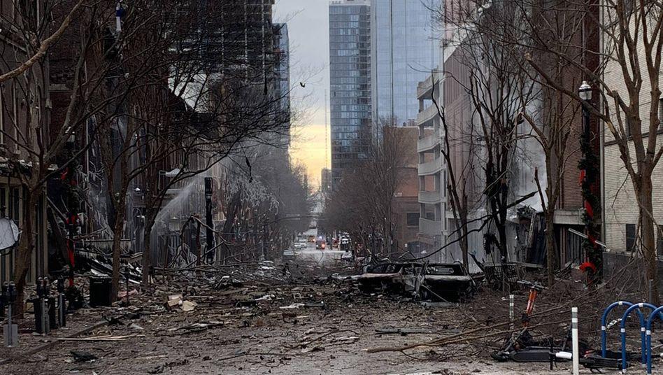 Folgen der Explosion in Nashville: Der mutmaßliche Täter ist laut Polizei tot