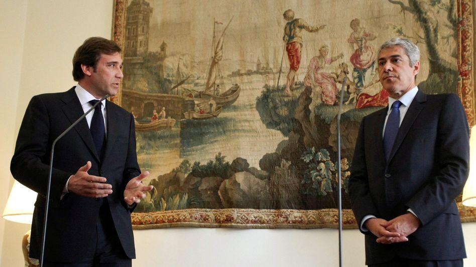Portugals Premier Sócrates, Oppositionsführer Coelho: In der Sache eigentlich einig