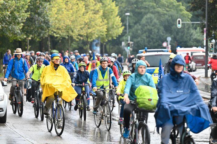 Teilnehmer Fahrrad-Sternfahrt