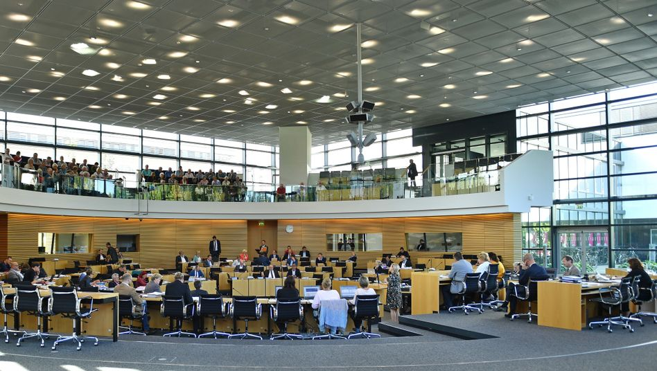 Der Landtag in Erfurt: In Thüringen wird am 27. Oktober über die neue Zusammensetzung des Parlaments entschieden.