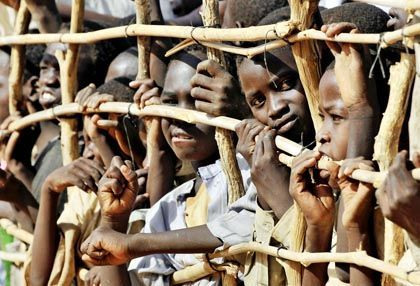 Sudanese children at a camp in Chad: Between 3,000 and 5,000 youth from other countries are believed to have sought refuge in Germany.