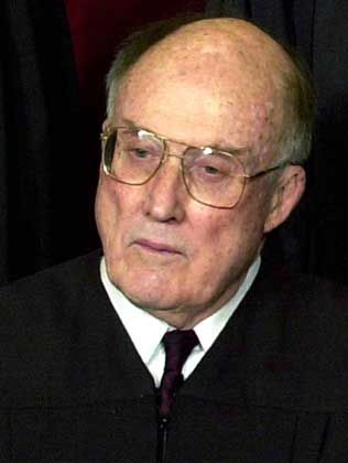 Derzeit amtsunfähig: Richter Rehnquist