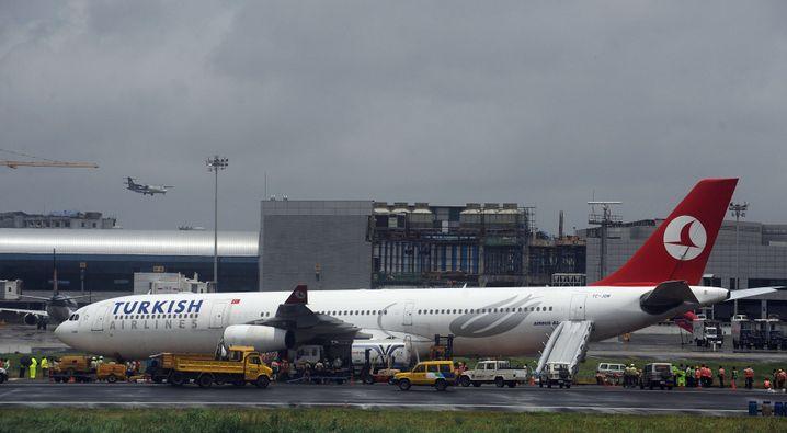 Flugzeug der Turkish Airlines: Über das Ziel hinausgeschossen
