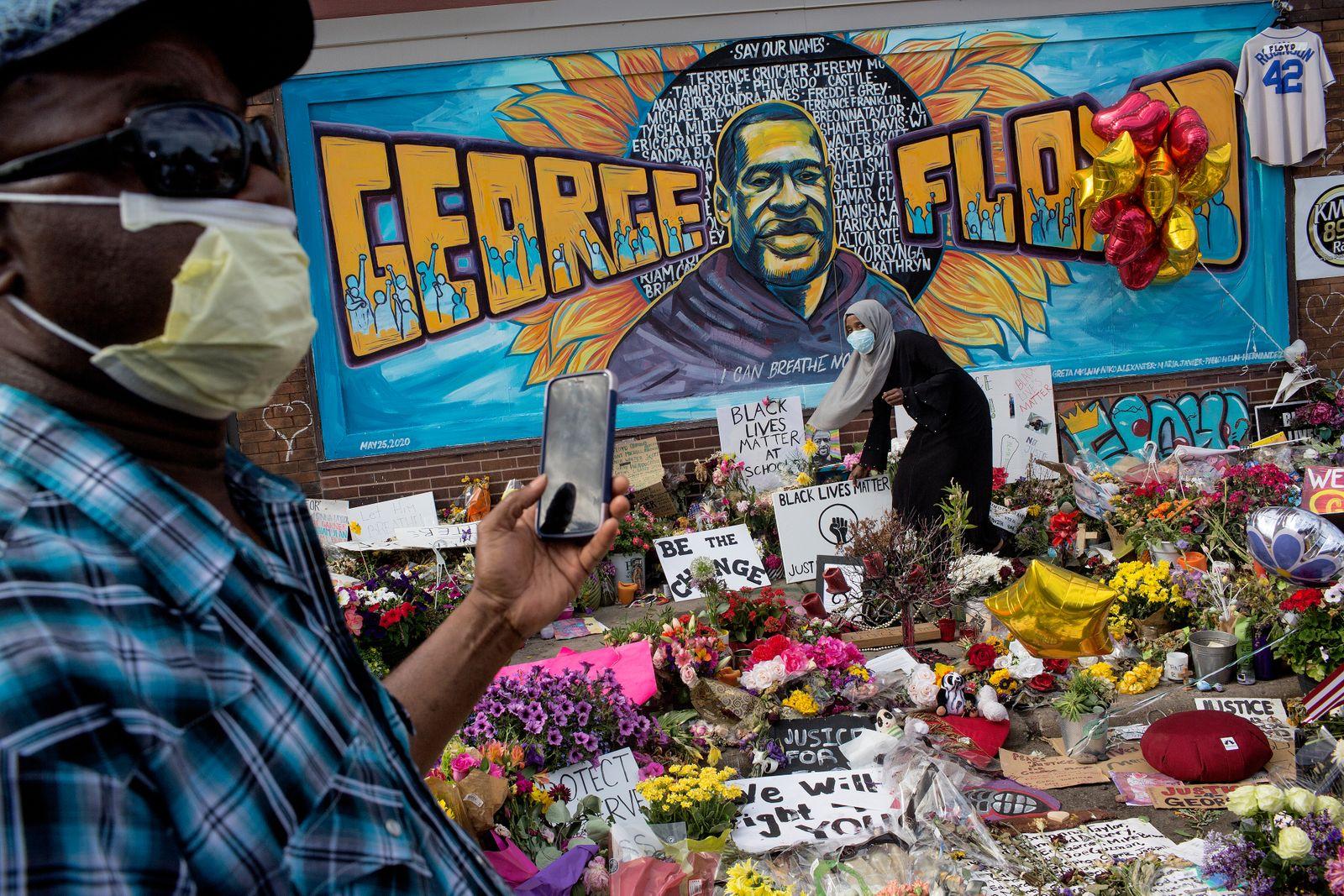 George Floyd memorial site in Minneapolis