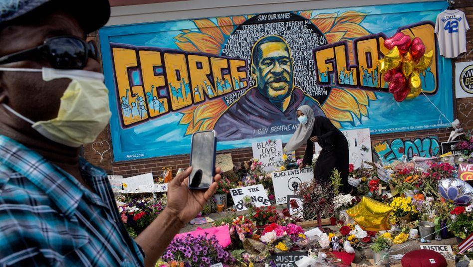 Gedenkstätte für George Floyd in Minneapolis