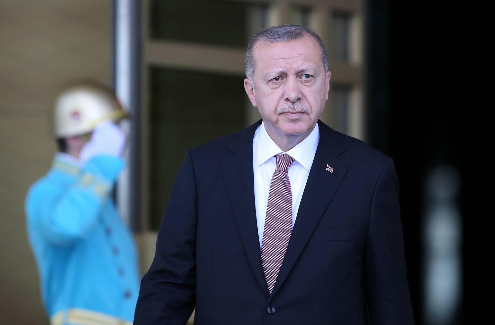 EINMALIGE VERWENDUNG Recep Tayyip Erdogan