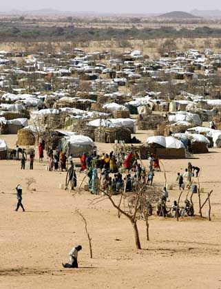 A camp in Chad for refugees from Sudan's Darfur region.