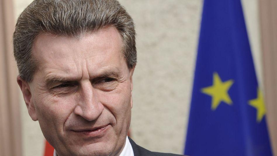 Günther Oettinger (Archiv): 151 EU-Abgeordnete unterzeichneten einen Protestbrief
