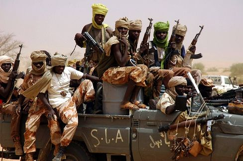 Insurgents of the Sudanese Liberation Army in Sudan's Darfur region, which is plagued by unrest.