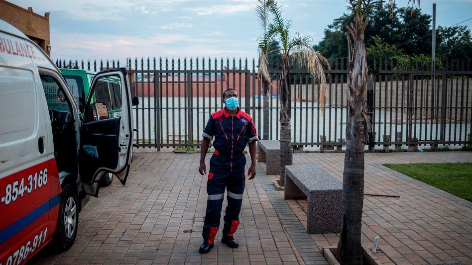 Sanitäter in Johannesburg, Südafrika