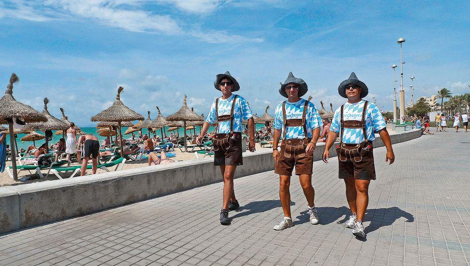 Bayerische Urlauber auf Mallorca