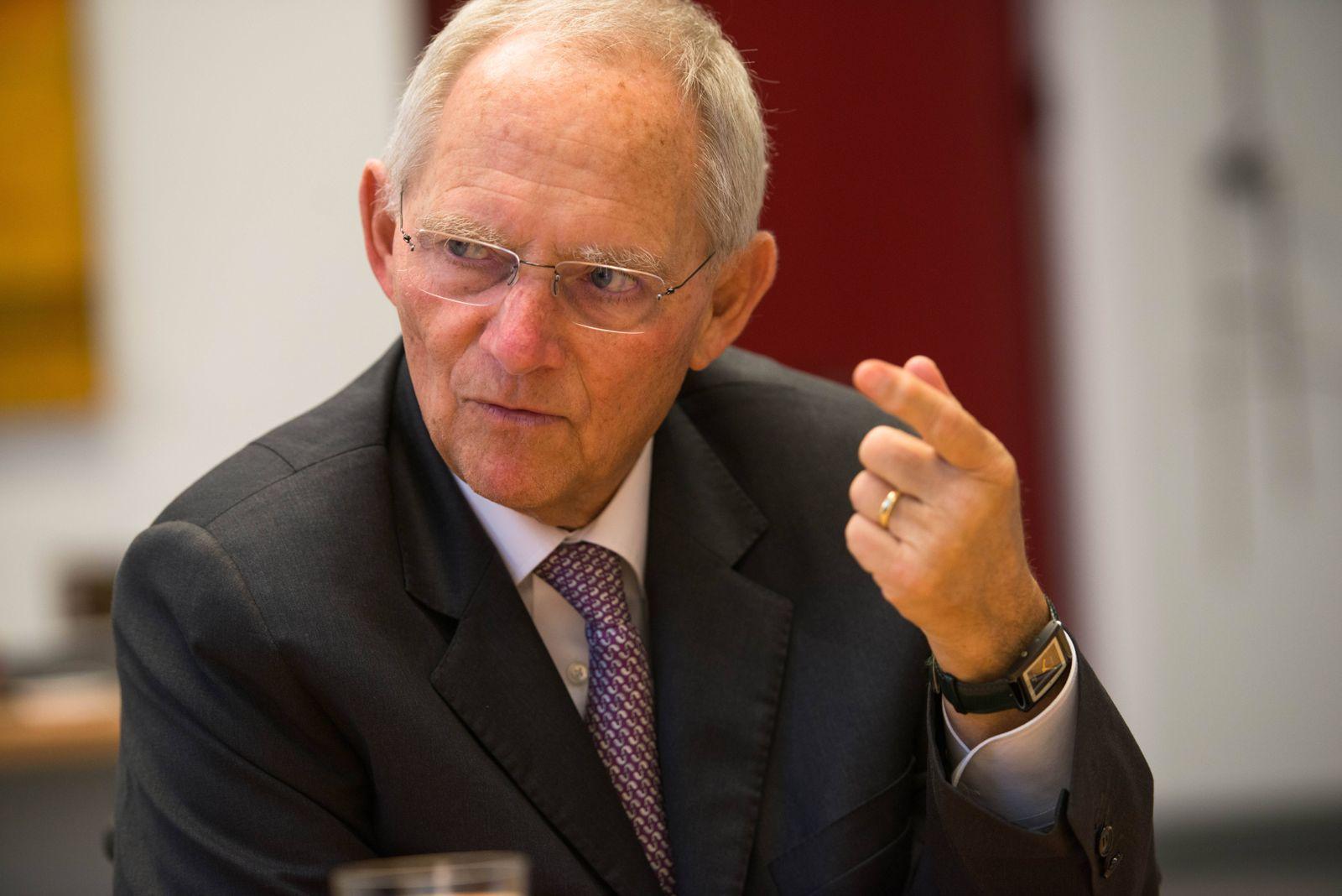 EINMALIGE VERWENDUNG Wolgang Schäuble