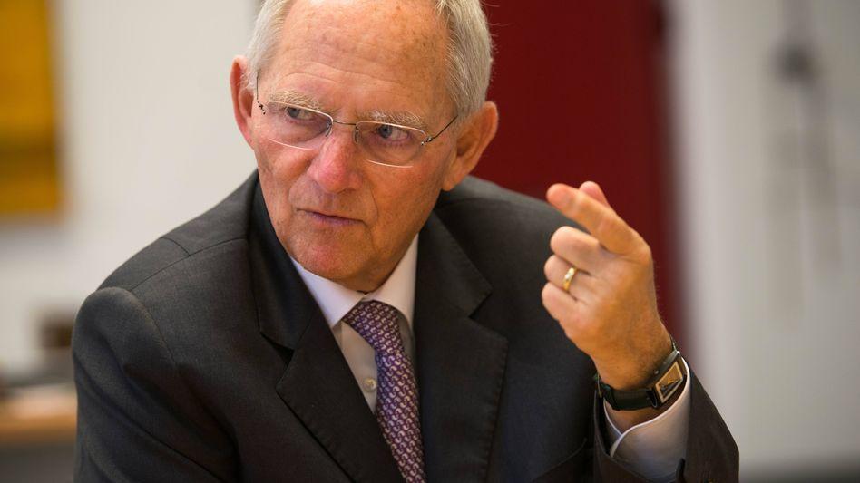 Bundestagspräsident Wolfgang Schäuble (CDU)