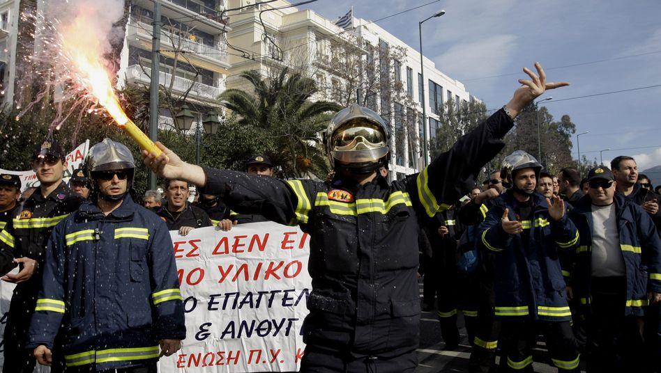 Proteste in Griechenland: Aufruhr gegen das staatliche Sparprogramm