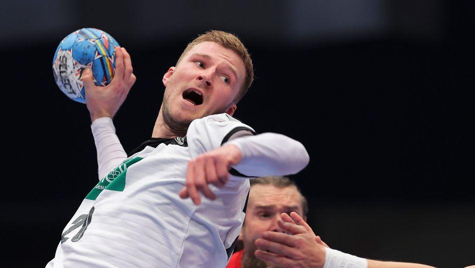 Philipp Weber im Spiel gegen Tschechien