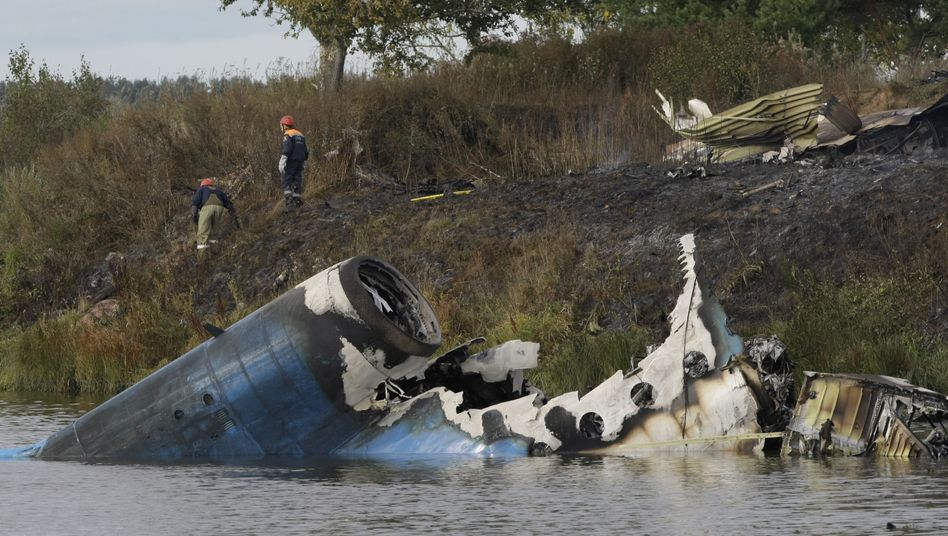 Zentralrussland: Eishockey-Team bei Flugzeugabsturz verunglückt