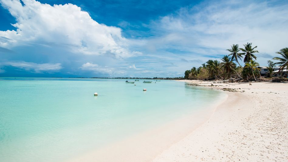 Strand in Tuvalu: Kein Anlass für den Exodus
