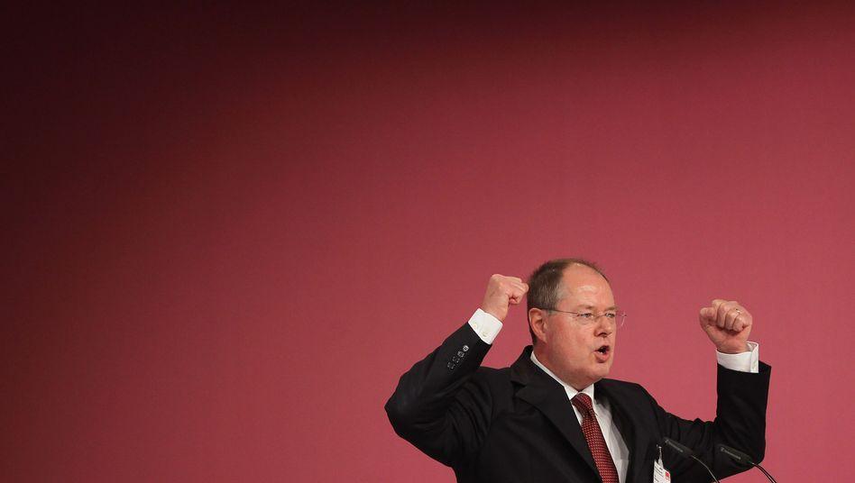 Designierter SPD-Kanzlerkandidat Steinbrück: Beistand vom Ex-Banker