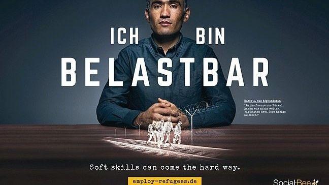 Plakat der Kampagne »Employ Refugees«