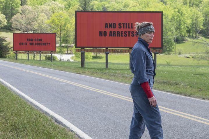 "Frances McDormand in ""Three Billboards Outside Ebbing, Missouri"
