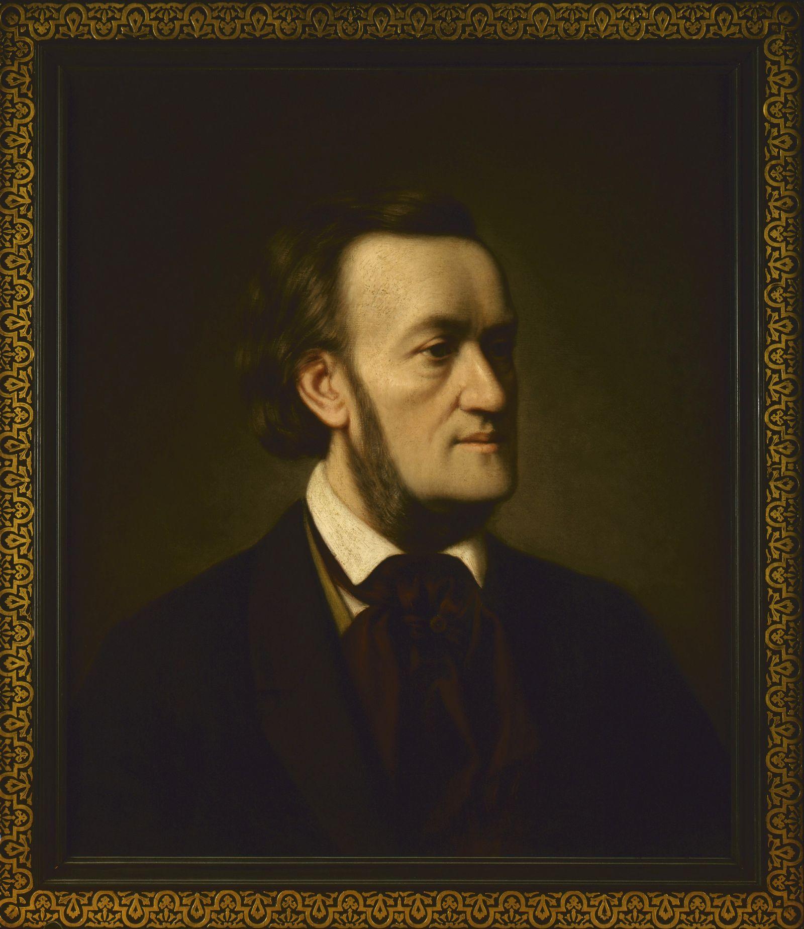EINMALIGE VERWENDUNG Portrait von Richard Wagner/ Reiss-Engelhorn-Museen