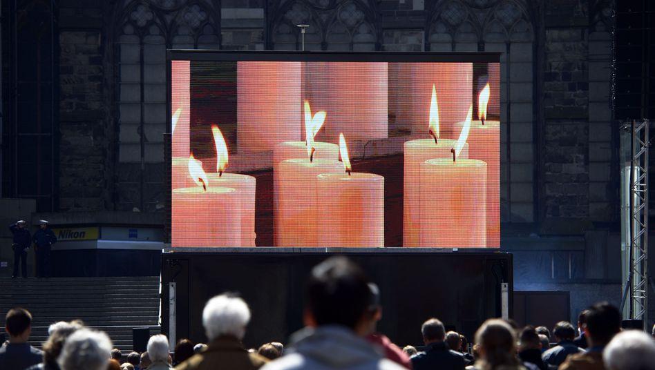 Trauerfeier am 17. April in Köln: 150 Menschen starben beim Germanwings-Absturz
