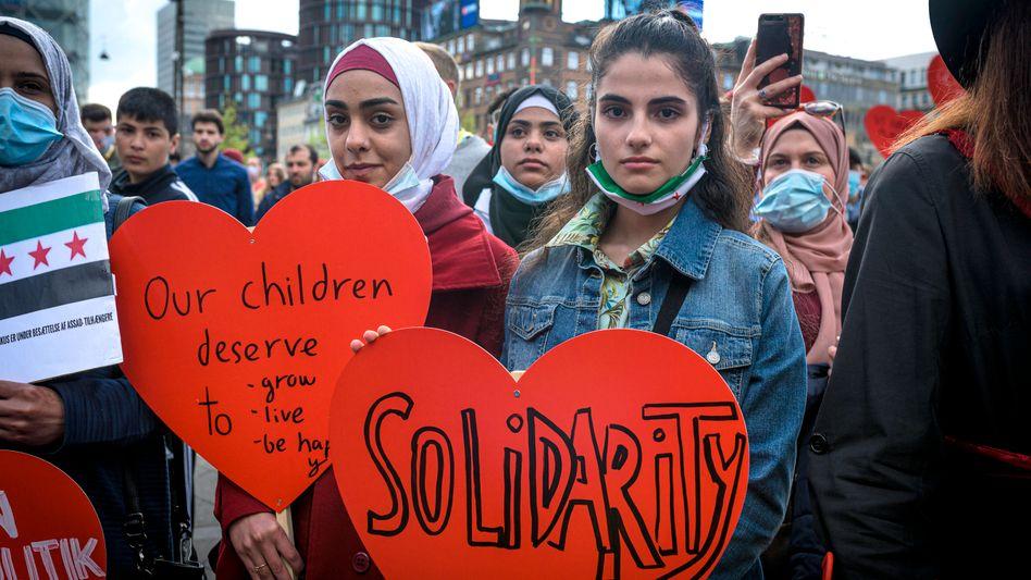Demonstration gegen Dänemarks rigide Asylpolitik
