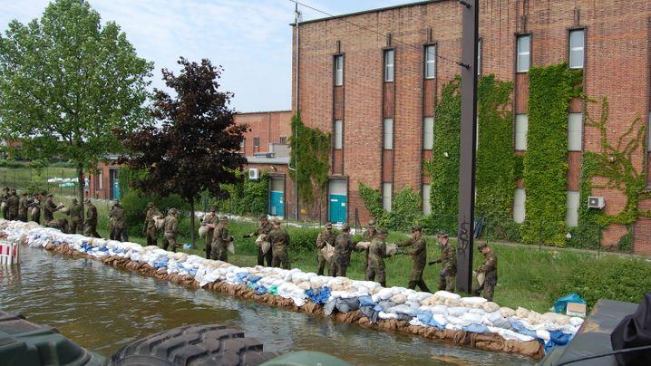 Hochwasser: Flutdrama in Magdeburg