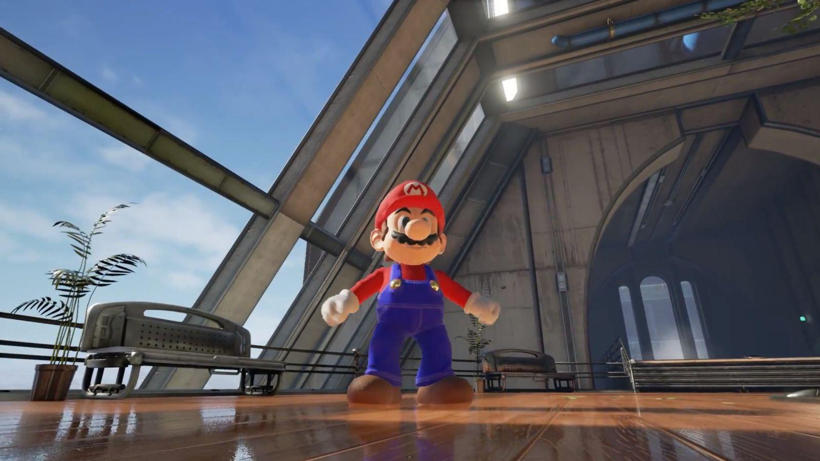 NUR ALS ZITAT Screenshot Super Mario in Unreal 4