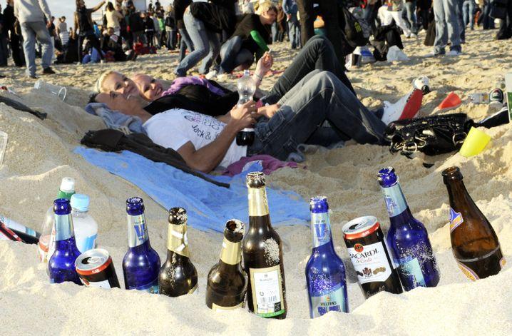 Beach-Party auf Sylt: Alkohol und Energydrinks