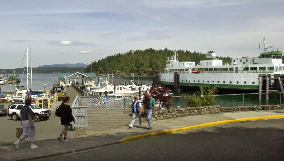 Fähre auf San Juan Island im Bundesstaat Washington: Amerikaner immer dicker