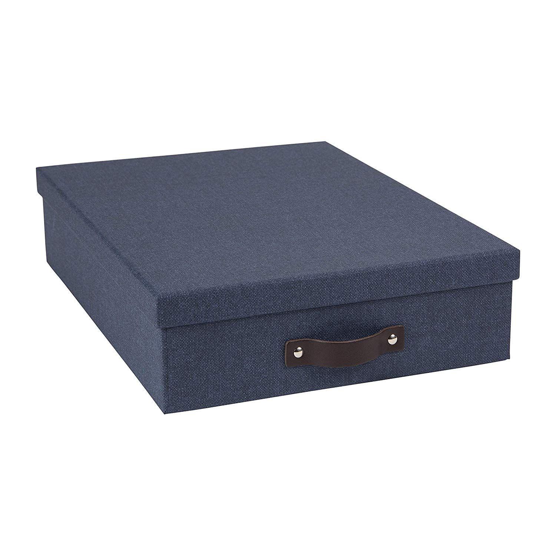 Shoppingliste_Ordnung_Boxen Schreibtischblau
