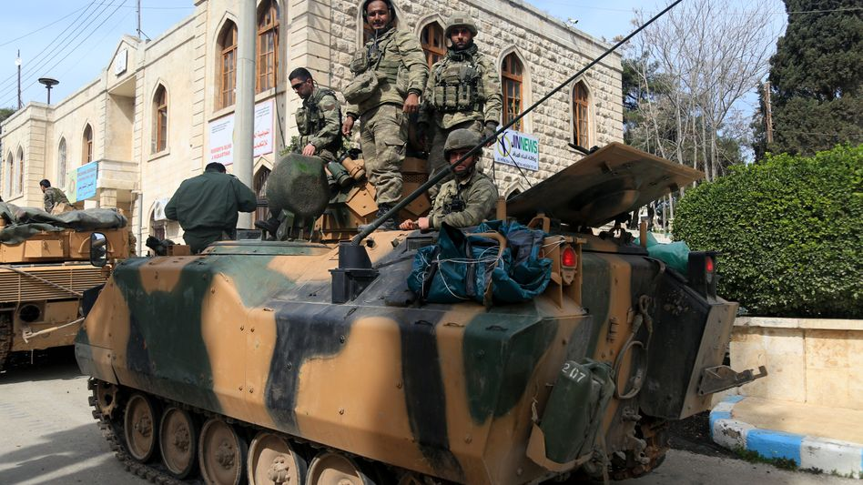 Türkische Soldaten in Afrin