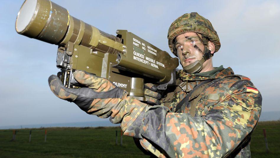 Flugabwehrrakete des Typs Stinger: Nur knapp verfehlt