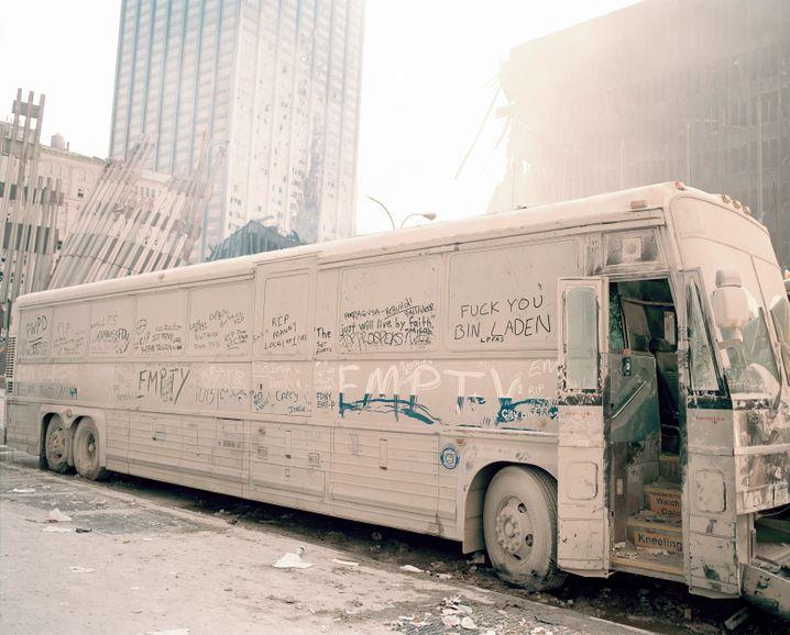Bus in WTC-Nähe: Der weiße Staub bedeckte alles