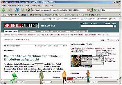 Zweitgeist: Wer hängt denn da am Seitenrand rum? Mit Web-Avataren kann man sich virtuell auf anderer Leute Webseiten treffen