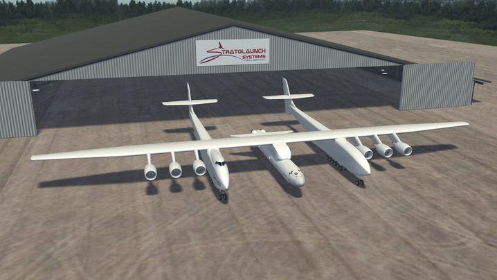 Paul Allens Riesenflugzeug: Fliegende Startrampe