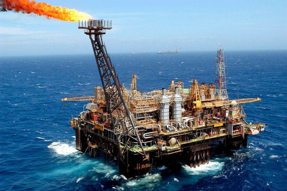 Ölplattform vor der brasilianischen Küste