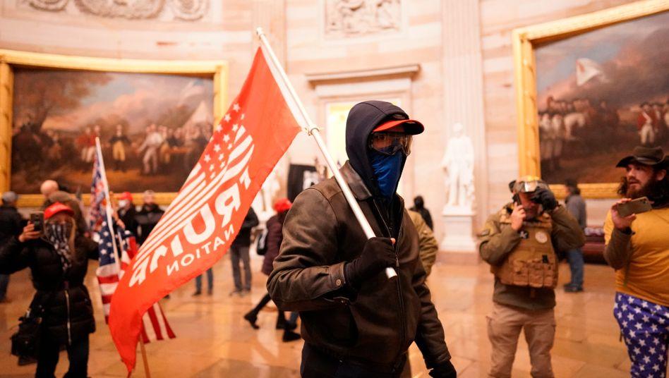 Aufständische am Kapitol in Washington