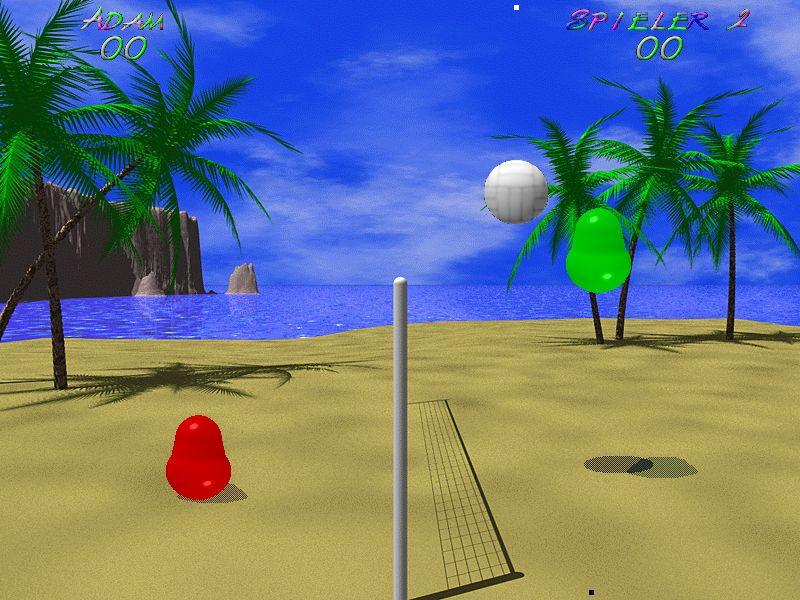 NUR ALS ZITAT Screenshot Kultspiel Blobby Volley