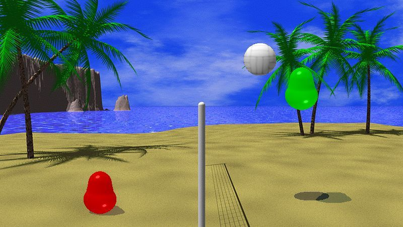 """Duell in """"Blobby Volley"""""""