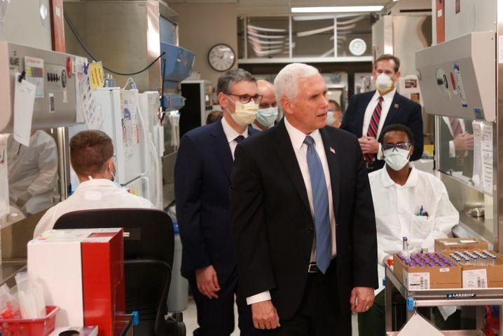 Ein Termin, der Ärger auslöste: Mike Pence besuchte die Mayo Klinik ohne Maske