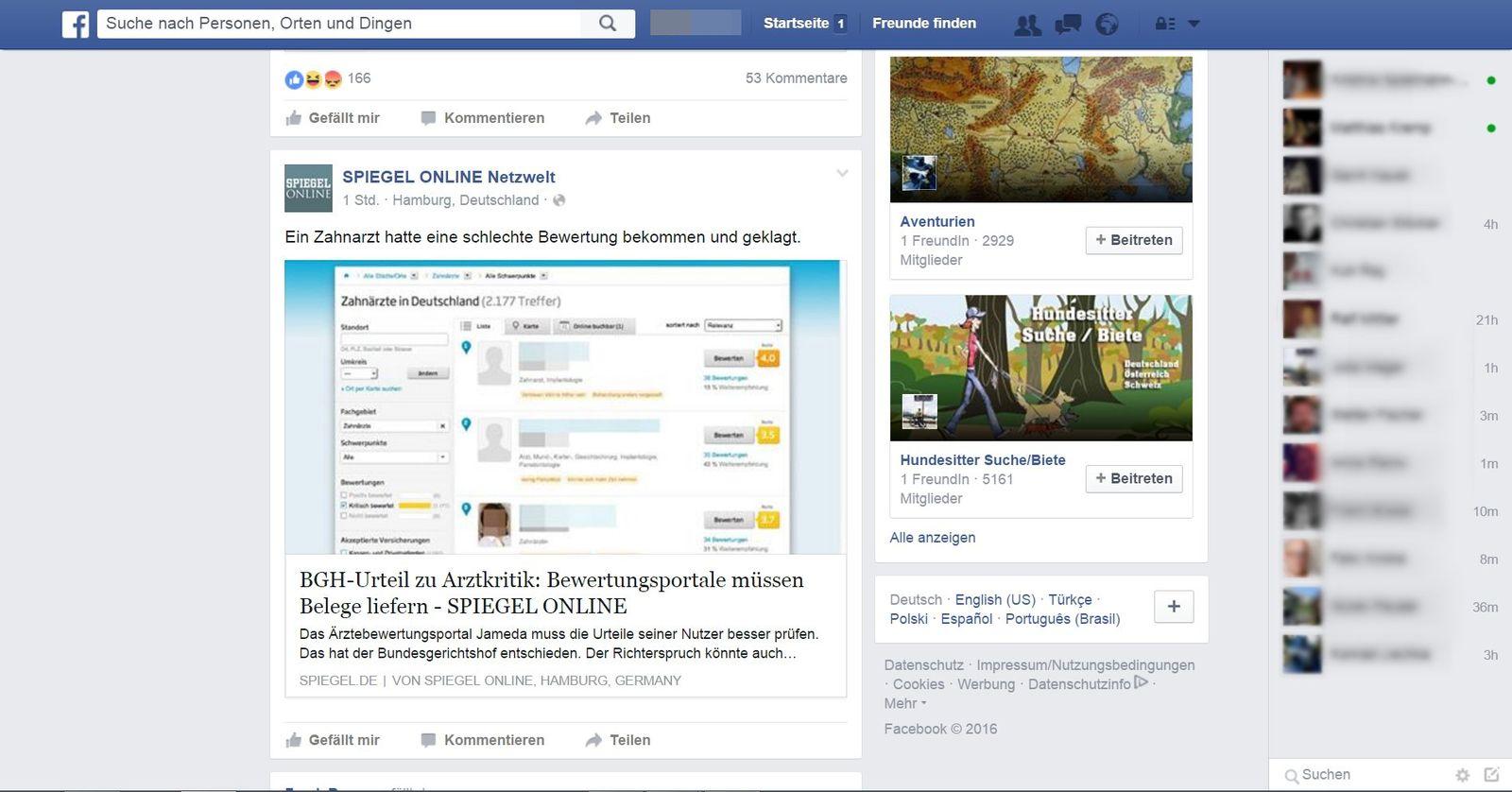 NUR ALS ZITAT Screenshot Facebook-Schlaf/ Überwachung/ Ich weiß, wann Du geschlafen hast