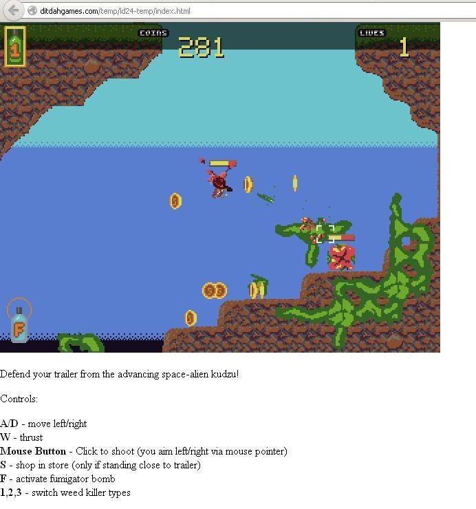NUR ALS ZITAT Screenshot Browserspiel kudzunheit