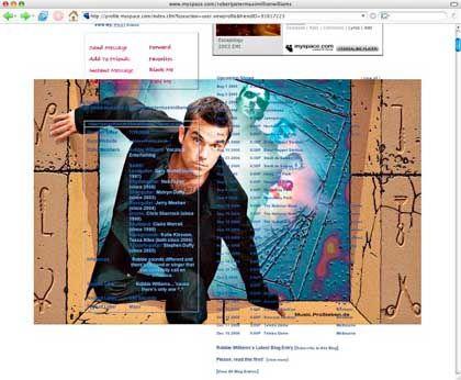 MySpace-Site (mit Robbie Williams): Das Warten verlernt