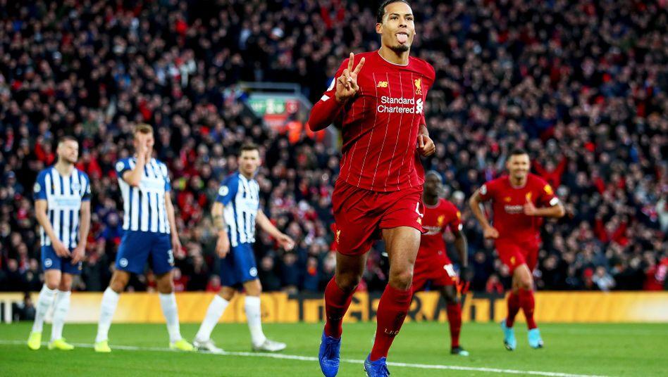 Kopfball-Doppelpack: Virgil van Dijk brachte die Fans des FC Liverpool bereits früh zum jubeln