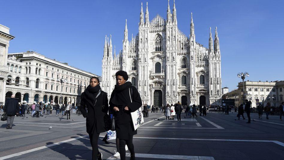 Passanten in Mailand